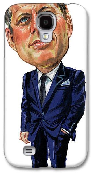 Person Galaxy S4 Cases - John F. Kennedy Galaxy S4 Case by Art