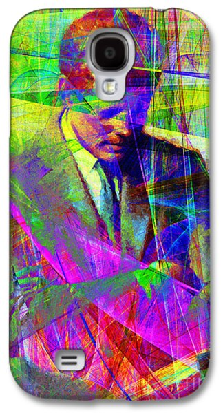 Celebrities Digital Art Galaxy S4 Cases - John Fitzgerald Kennedy JFK In Abstract 20130610v2 Galaxy S4 Case by Wingsdomain Art and Photography