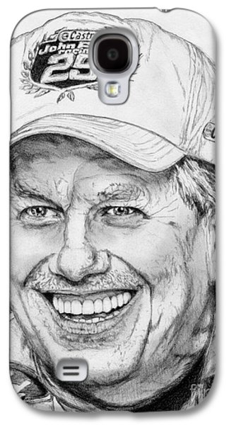 Owner Drawings Galaxy S4 Cases - John Force in 2010 Galaxy S4 Case by J McCombie