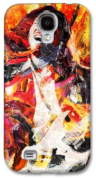 Rock N Roll Paintings Galaxy S4 Cases - John Frusciante - Red Hot Chili Peppers Original Painting Print Galaxy S4 Case by Ryan RockChromatic