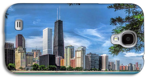 John Hancock Chicago Skyline Panorama Galaxy S4 Case by Christopher Arndt