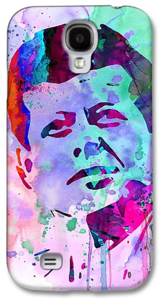 Civil Rights Galaxy S4 Cases - John Kennedy Watercolor Galaxy S4 Case by Naxart Studio