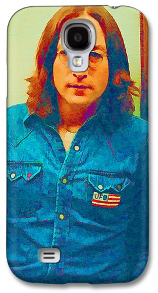 Beatles Galaxy S4 Cases - John Lennon 1975 Galaxy S4 Case by William Jobes