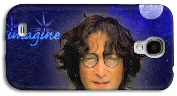 Beatles Galaxy S4 Cases - John Lennon Galaxy S4 Case by Anthony Caruso