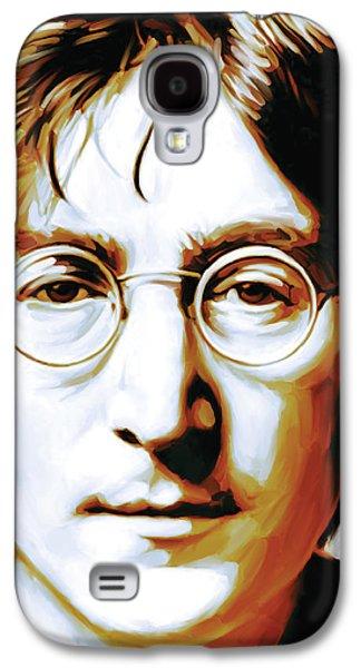 Beatles Galaxy S4 Cases - John Lennon Artwork Galaxy S4 Case by Sheraz A
