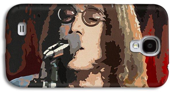 Elton John Paintings Galaxy S4 Cases - John Lennon Galaxy S4 Case by Dennis Nadeau