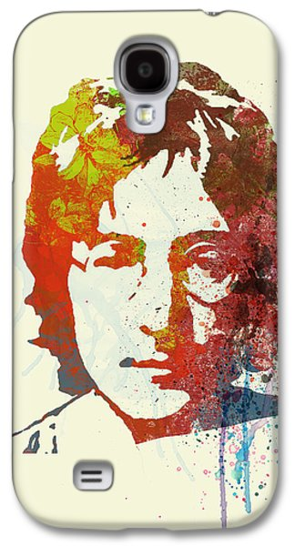 Rock Paintings Galaxy S4 Cases - John Lennon Galaxy S4 Case by Naxart Studio