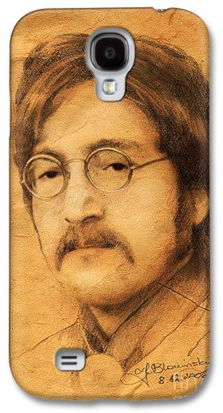 John Lennon Galaxy S4 Case by Jaroslaw Blaminsky