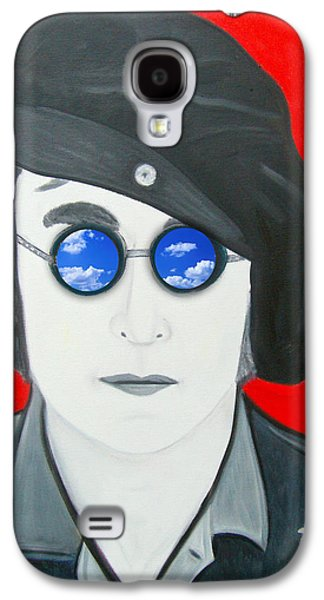 Beatles Galaxy S4 Cases - John Lennon Galaxy S4 Case by Karen Serfinski