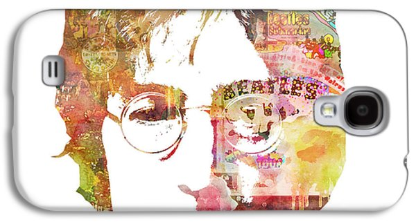Celebrities Galaxy S4 Cases - John Lennon Galaxy S4 Case by Mike Maher