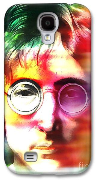 John Lennon Over John Lennon Galaxy S4 Case by Marvin Blaine