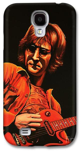 Beatles Galaxy S4 Cases - John Lennon Galaxy S4 Case by Paul  Meijering