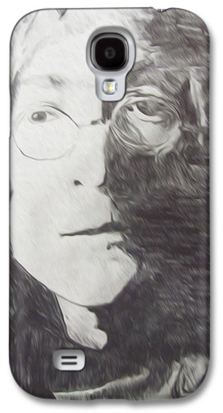 Photo Manipulation Drawings Galaxy S4 Cases - John Lennon Pencil Galaxy S4 Case by Jimi Bush