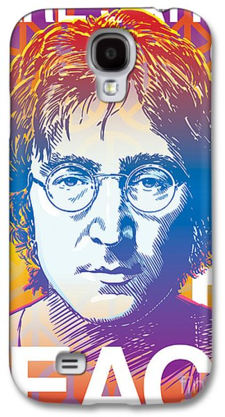 Rocks Drawings Galaxy S4 Cases - John Lennon Pop Art Galaxy S4 Case by Jim Zahniser