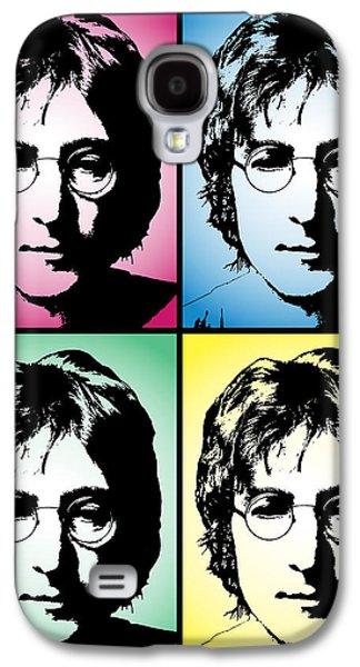 Beatles Galaxy S4 Cases - John Lennon Pop Art Panel Galaxy S4 Case by Daniel Hagerman