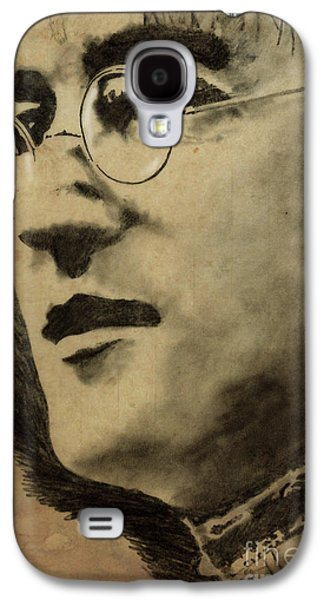 Beatles Galaxy S4 Cases - John Lennon Portrait Galaxy S4 Case by Pablo Franchi