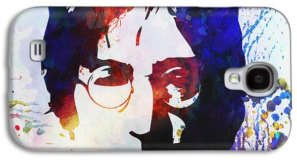 Celebrities Galaxy S4 Cases - John Lennon stencil portrait Galaxy S4 Case by Pixel Chimp