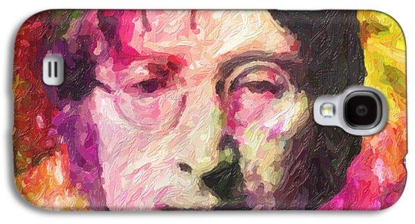 Ringo Starr Paintings Galaxy S4 Cases - John Lennon Galaxy S4 Case by Taylan Soyturk