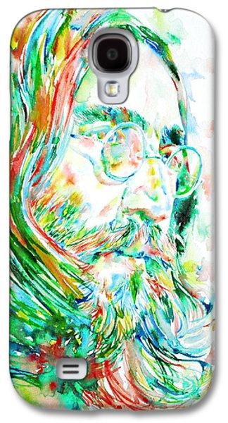 Recently Sold -  - Beatles Galaxy S4 Cases - John Lennon Watercolor Portrait Galaxy S4 Case by Fabrizio Cassetta