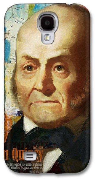 James Buchanan Galaxy S4 Cases - John Quincy Adams Galaxy S4 Case by Corporate Art Task Force