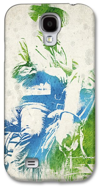 Western Art Digital Art Galaxy S4 Cases - John Wayne  Galaxy S4 Case by Aged Pixel