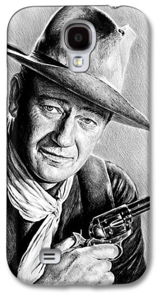 John Wayne Drawings Galaxy S4 Cases - John Wayne  Galaxy S4 Case by Andrew Read