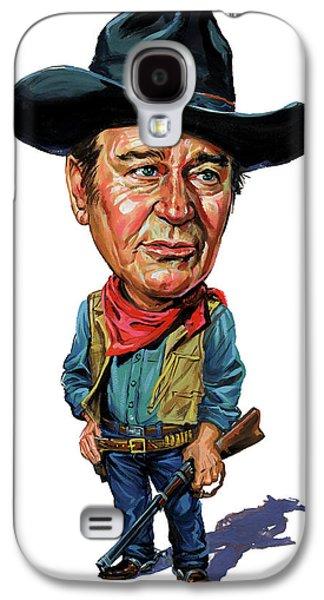 Person Galaxy S4 Cases - John Wayne Galaxy S4 Case by Art