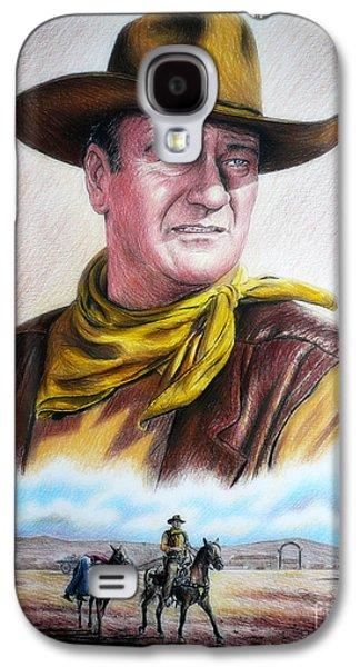 John Wayne Drawings Galaxy S4 Cases - John Wayne Captured Galaxy S4 Case by Andrew Read