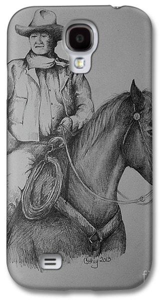 John Wayne Drawings Galaxy S4 Cases - John Wayne Galaxy S4 Case by Catherine Howley