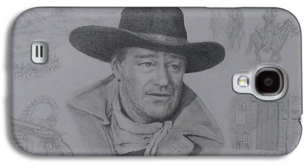 John Wayne Drawings Galaxy S4 Cases - John Wayne Galaxy S4 Case by Elaine Jones