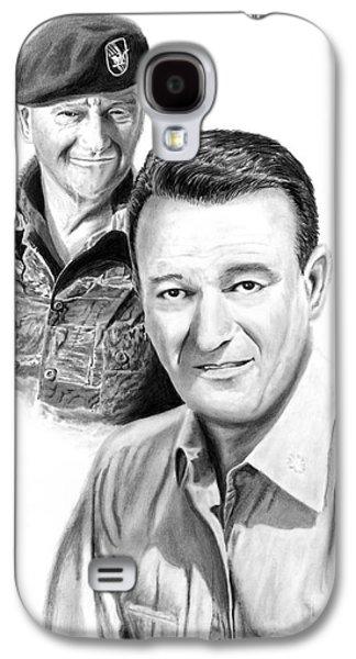John Wayne Drawings Galaxy S4 Cases - John Wayne Galaxy S4 Case by Peter Piatt