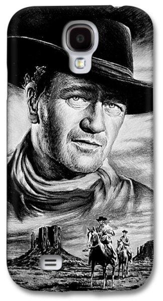 John Wayne Drawings Galaxy S4 Cases - John Wayne Searching Galaxy S4 Case by Andrew Read