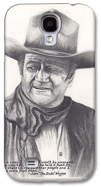John Wayne Drawings Galaxy S4 Cases - John Wayne The Duke Galaxy S4 Case by Daniel Lindvig