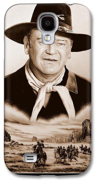 John Wayne Drawings Galaxy S4 Cases - John Wayne US Cavalry Galaxy S4 Case by Andrew Read