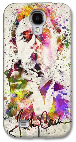 Distress Galaxy S4 Cases - Johnny Cash  Galaxy S4 Case by Aged Pixel