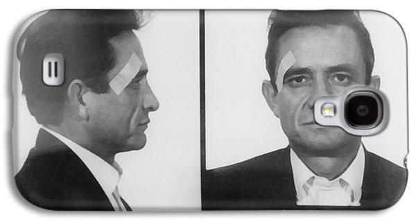 Johnny Cash Folsom Prison Galaxy S4 Case by David Millenheft
