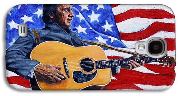 Johnny Cash Galaxy S4 Case by John Lautermilch