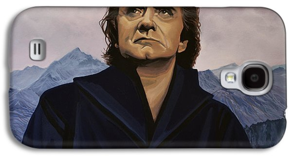 Actors Paintings Galaxy S4 Cases - Johnny Cash Galaxy S4 Case by Paul  Meijering