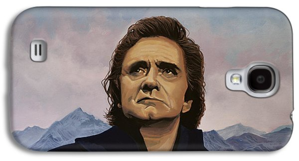 Nashville Paintings Galaxy S4 Cases - Johnny Cash Galaxy S4 Case by Paul Meijering
