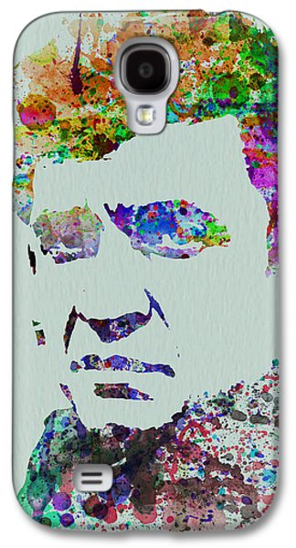 Actors Paintings Galaxy S4 Cases - Johnny Cash Watercolor 2 Galaxy S4 Case by Naxart Studio