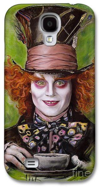 Alice In Wonderland Galaxy S4 Cases - Johnny Depp as Mad Hatter Galaxy S4 Case by Melanie D