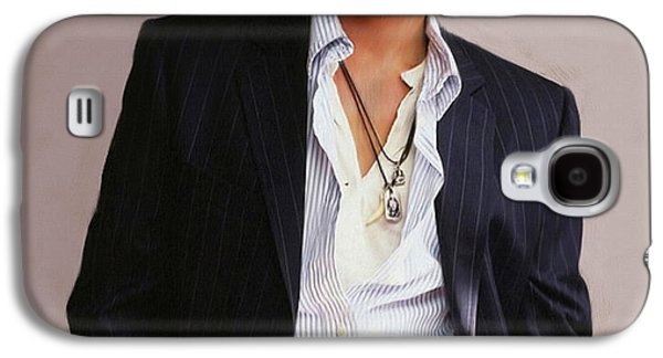 Johnny Depp Galaxy S4 Case by Dominique Amendola