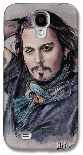Johnny Depp Galaxy S4 Case by Melanie D