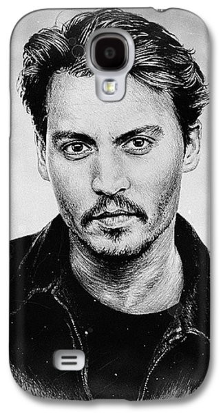 Hairstyle Digital Galaxy S4 Cases - Johnny Depp stained Galaxy S4 Case by Andrew Read
