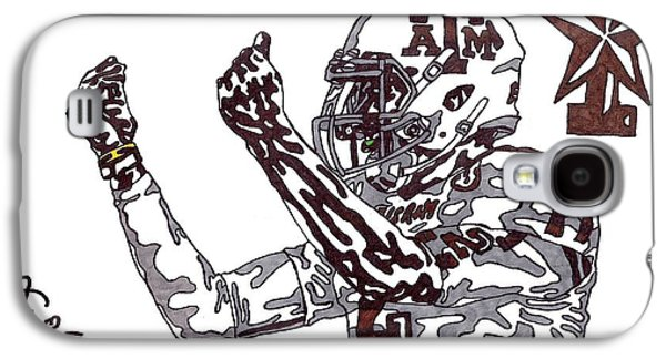 Americans Drawings Galaxy S4 Cases - Johnny Manziel 10 Change The Play Galaxy S4 Case by Jeremiah Colley