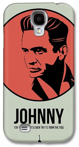 Singer Mixed Media Galaxy S4 Cases - Johnny Poster 2 Galaxy S4 Case by Naxart Studio