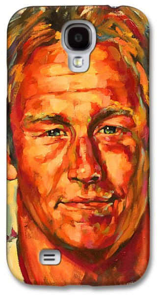 Rugby Paintings Galaxy S4 Cases - Johnny Wilkinson Galaxy S4 Case by Tachi Pintor