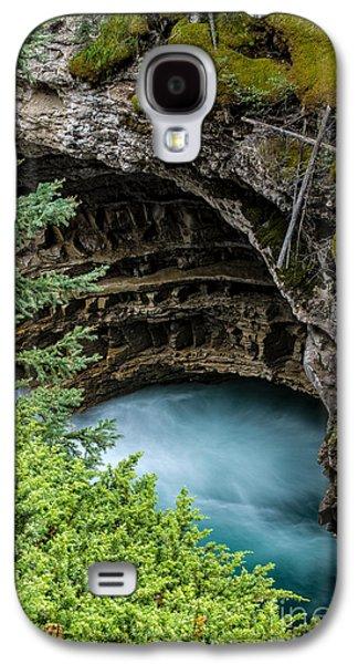 Raging Galaxy S4 Cases - Johnston Canyon Pool Banff Canadian Rockies Galaxy S4 Case by Edward Fielding
