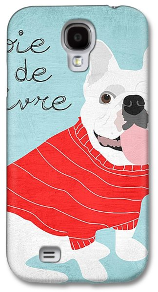 Living With Joy Galaxy S4 Cases - Joie de Vivre French Bulldog  Galaxy S4 Case by Ginger Oliphant
