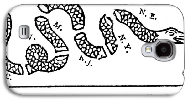 Reptiles Drawings Galaxy S4 Cases - Join or Die Galaxy S4 Case by Anonymous